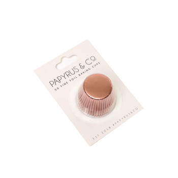 Mini Rose Gold Baking Cups 50 Pack