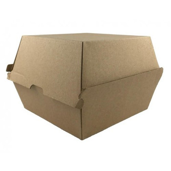 Large Kraft Takeaway Burger Boxes 50 pack