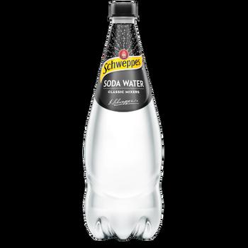 Schweppes Soda Water 12 x 1.1 litre Bottles