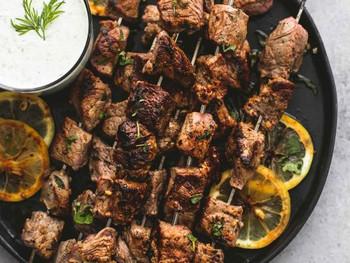Large Beef Souvlaki Kebabs Made Fresh