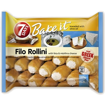 Genuine Greek Filo Rollini With Feta & Mizithra Cheese 1kg
