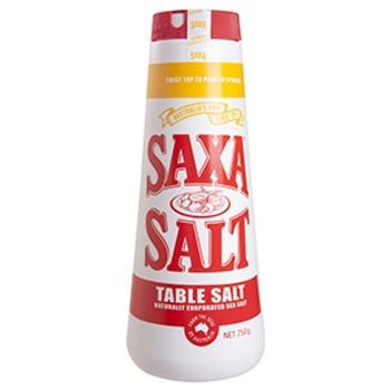 Saxa Plain Table Salt 750g