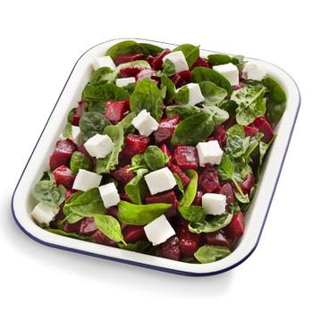 Beetroot Spinach & Feta Salad