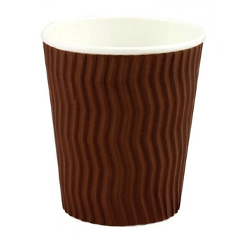 Capri 8oz Cool Wave Hot Drink Paper Cups Brown 25 pack