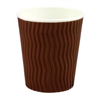 Capri 8oz Cool Wave Hot Drink Paper Cups Brown 25 pack