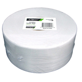 Capri Recycled Jumbo Toilet Paper Roll 500m 1ply