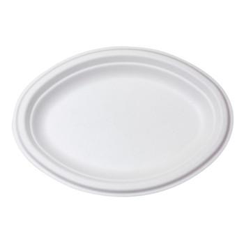 Small Oval Natural Fibre Plates