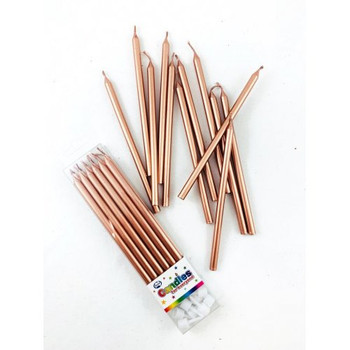 Rose Gold Slim Candle 12pk