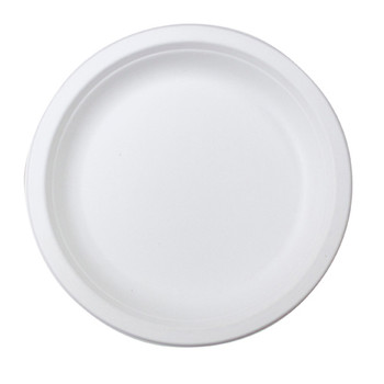"Envirochoice Round 7"" Natural Fibre Snack Plates 25 Pack"