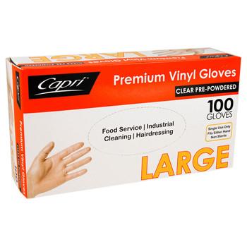 Capri Large Vinyl Gloves 100 Pack