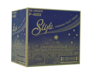 Style Premium 2 ply 400 Sheet Toilet Paper x 48 Rolls