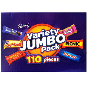 Cadbury Variety Jumbo Pack 110 Pieces