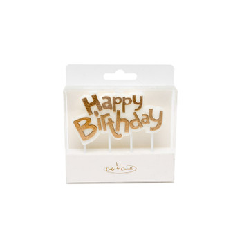 Gold Happy Birthday Candle Plaque