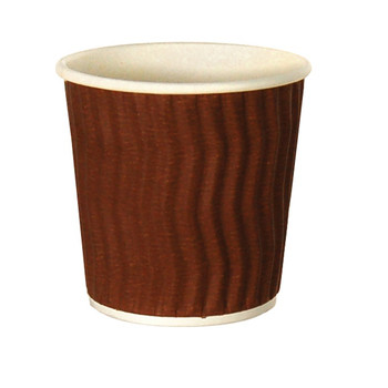 4oz Cool Wave Hot Drink Paper Cups Brown