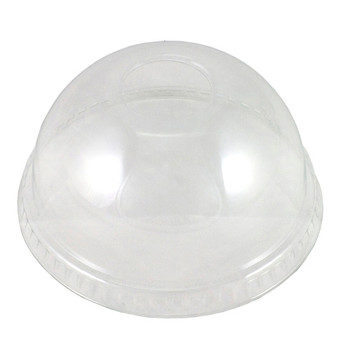 Clear Dome Plastic Lids 100 Pack