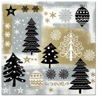 Christmas Gold 3 Ply Lunch Napkins