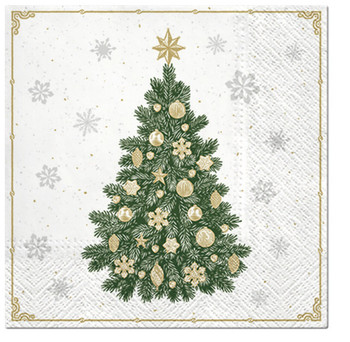 Frosty Tree 3 Ply Christmas Lunch Napkins