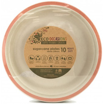 Eco Occasions Sugarcane Dinner Plates 230mm Rose Gold 10 pack