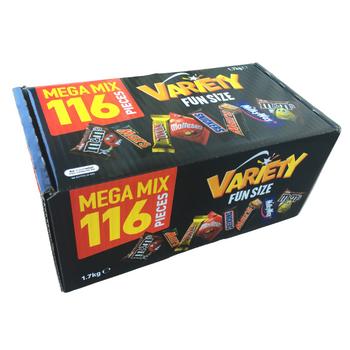 Mars Mega Mix Variety Chocolates 116 Pack