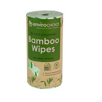 Envirochoice Natural Bamboo Wipes 85 Per Roll