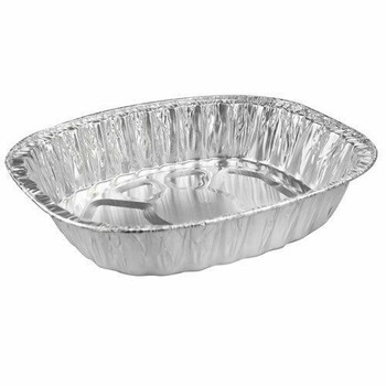 Extra Large Deep Oval Foil Roasting Tray