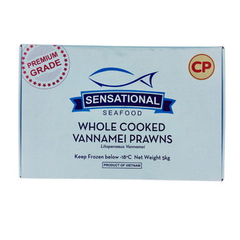 Whole Cooked Vannemei Prawns XXL 16/20 5kg Carton View