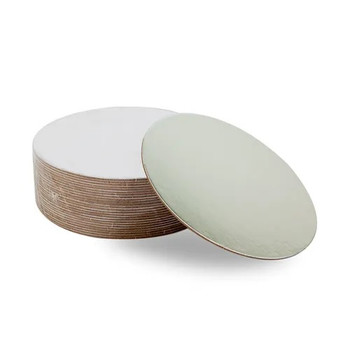 """Round Silver Cake Board 8"""" - Mondo"""