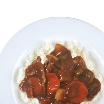 Rice King Mongolian Beef Plated