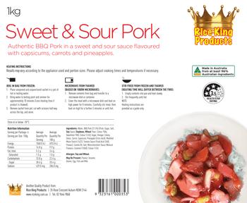 Rice King Sweet & Sour Pork Spec Sheet