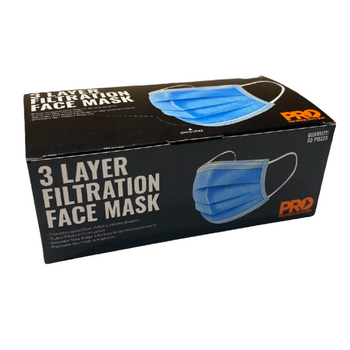 3 Layer Filtration Face Masks Box