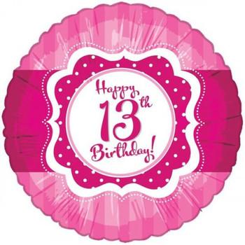 Happy 13th Birthday Pink Foil Balloon