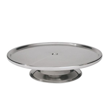 Cake Stand Stainless Steel Low Base 30cm