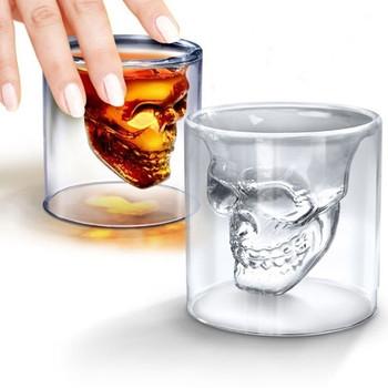 Avanti Skull Twin Wall Shot Glass Twin Set