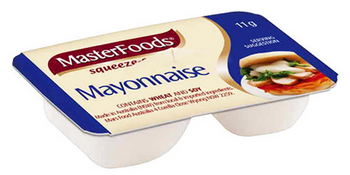 Masterfoods® Mayonnaise Squeezy Portions 11g