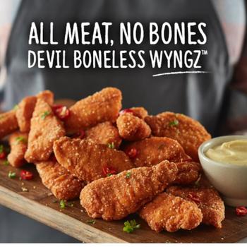 Inghams Boneless Devil Chicken Wyngz 1kg