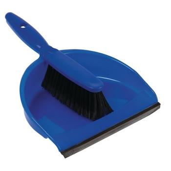 Blue Plastic Dust Pan Set