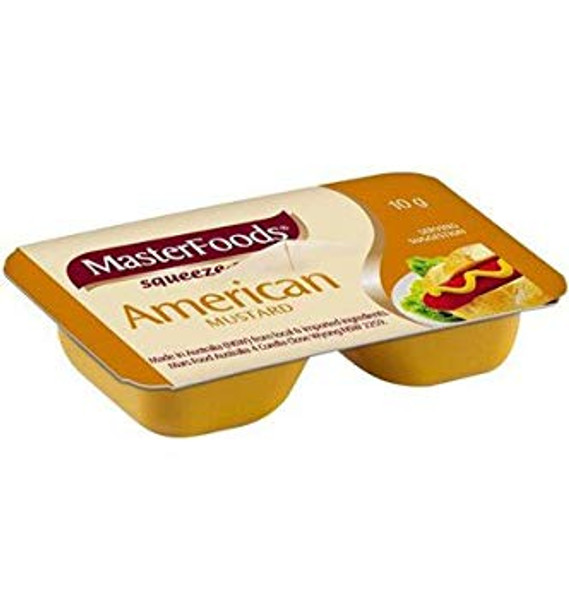 American Mustard Squeezy Portions 100 x 10g