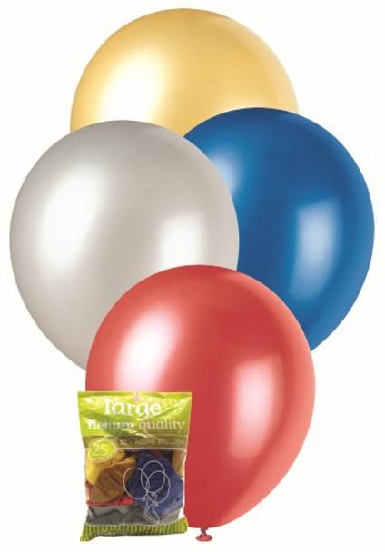 Balloons Metallic 25 - Assorted