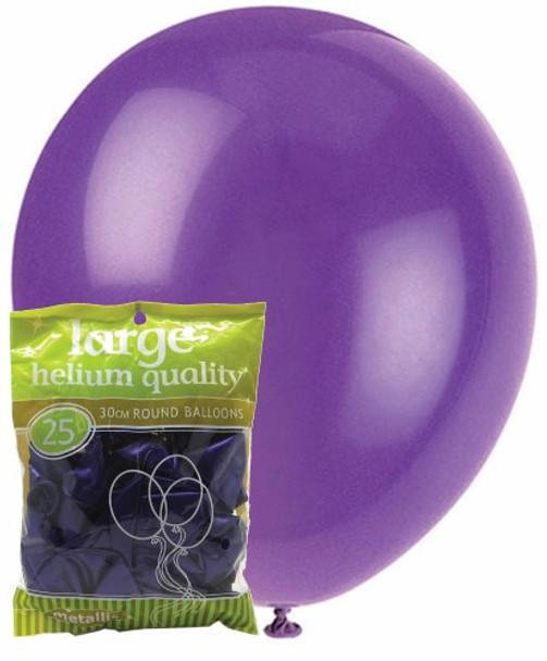 Balloons Metallic 25 - Purple