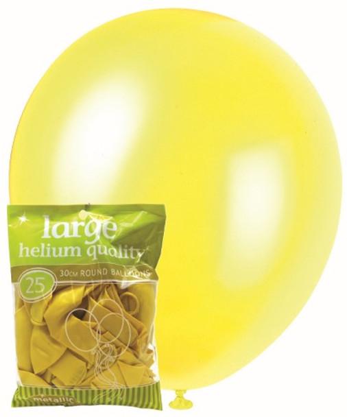 Balloons Metallic 25 - Yellow