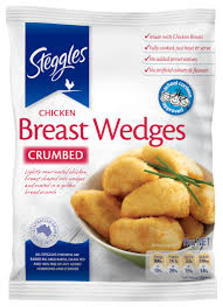 Steggles Crumbed Chicken Breast Wedges 1kg
