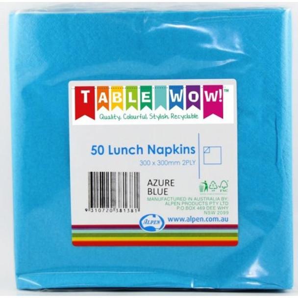 Serviettes Blue Electric Lunch 2Ply 100 - Alpen