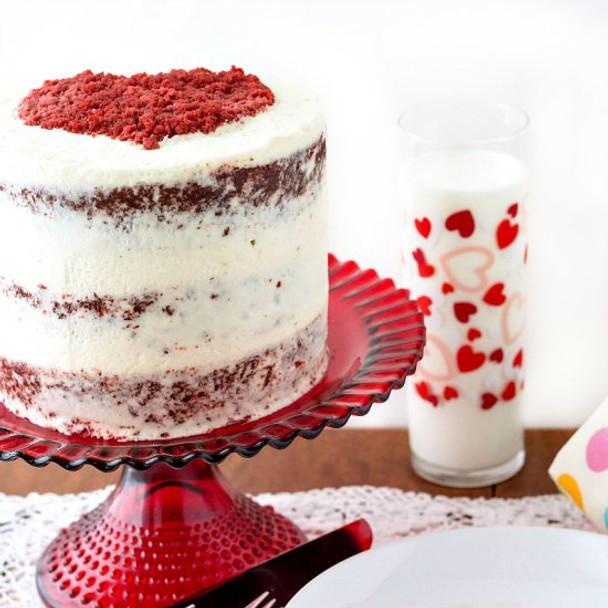 NAKED ROUND CHOCOLATE CAKE layered