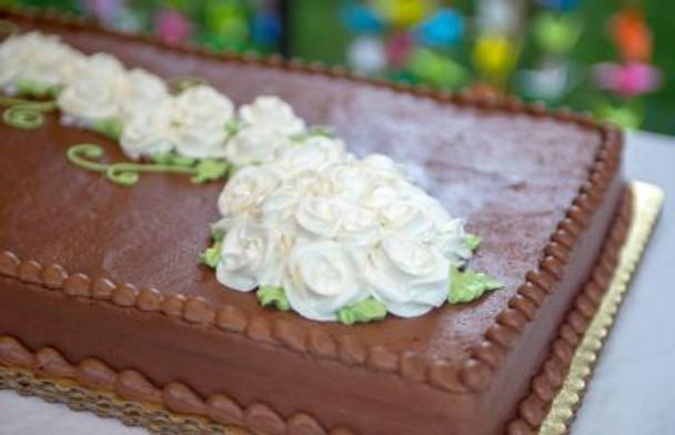 NAKED FULL SLAB CHOCOLATE CAKE DECORATED