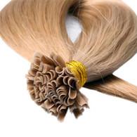 "Marquesa Premium Indian Remy U Tip, 25ct, #1B, Natural Straight, 18-20"""