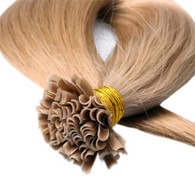 "Marquesa Premium Indian Remy U Tip, 25ct, #27, Natural Straight 16-18"""