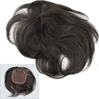 """Tammy Premium Virgin Remy Full Handtied Topper by Marquesa, Straight, #1B, 4"""", 4 Clips"""