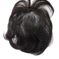 "Tammy Premium  Virgin Remy Full Handtied Topper by Marquesa, Straight, #1B, 4"", 4 Clips"