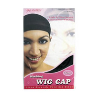Stocking Wig Cap 2 Ct - Black