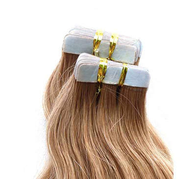 """Marquesa Premium Indian Remy Tape in, 20ct, #2, Natural Straight, 14-16"""""""